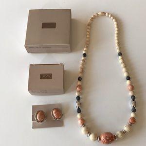 AVON: Desert Sands Necklace & Clip Earrings Set
